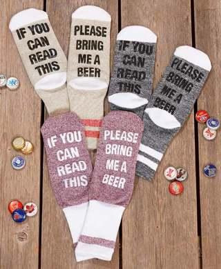 Ladies 3 Pair Beer Socks