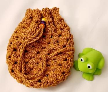 Crochet Pull String Gift Bag,or SOAP BAG FOR SHOWER OR BATH**LQQK***