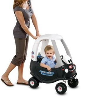 1 NEW Genuine 30th Anniversary Edition Little Tikes COP CAR Cozy Coupe Tikes Patrol, Ride-On