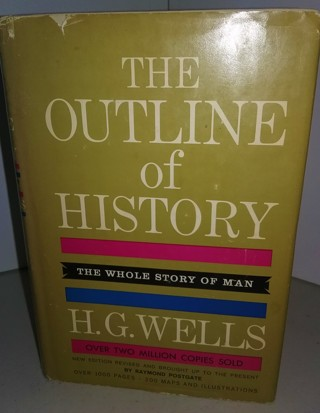 "1961 Revised Edition ""The Outline of History"" Volume 2 by H.G. Wells - The Story of Man - 537 pages"