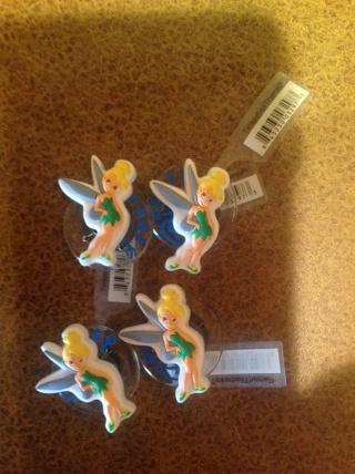4 new Disney Tinkerbell Jibbitz for Crocs