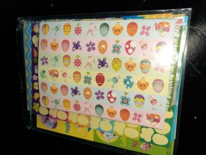LOT OF EASTER EGG DECORATIONS INCL STICKERS