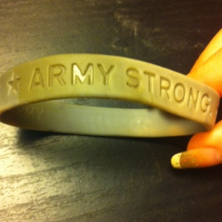 Free Army Strong Goarmy Com Rubber Jelly Bracelet With A