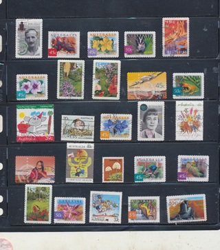 (25 + 5 Bonus) Stamps from Australia,  All Different, Vintage, Used, Cancelled - AUS-101