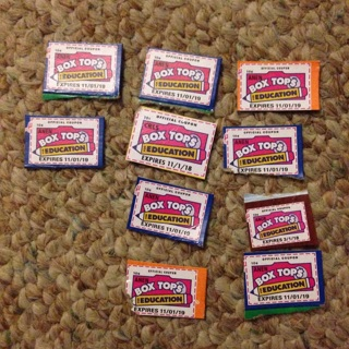 10 Boxtops for Education. Good expiration dates.