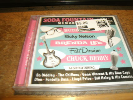 new cd!soda fountain memories-buddy holly-ricky nelson-dion-&more!look!rock