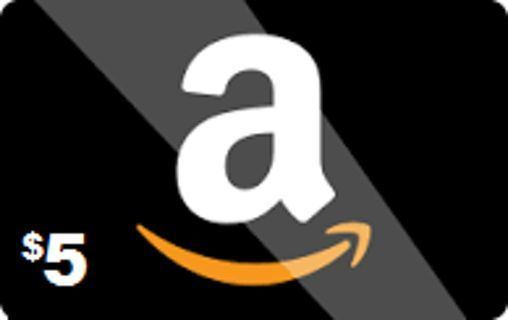 $5 AMAZON GIFT CARD.FAST DIGITAL DELIVERY.