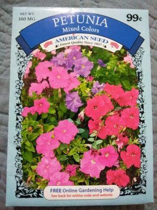 Petunia flowers seed package
