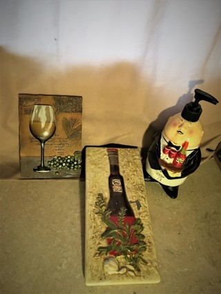 3 Wine/Chef/Waiter Decor Items