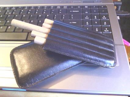 Imitation leather cigar case