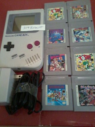 (((Gameboy + 8 games))) charger and cleaning kit included + free shipping