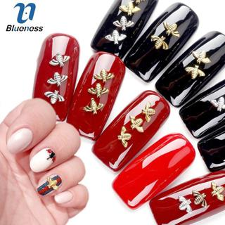 Blueness 10pcs/lot Gold Silver 3D Nail Art Decorations Metal Copper Bee Wing Studs For Nails Desig