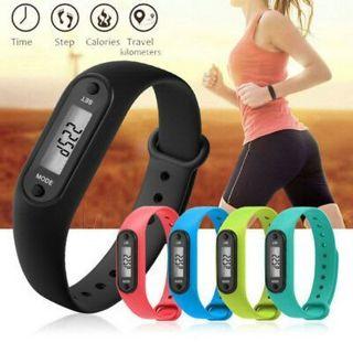 Run Walking Step Distance Bracelet Watch Calorie Counter Digital LCD Pedometer