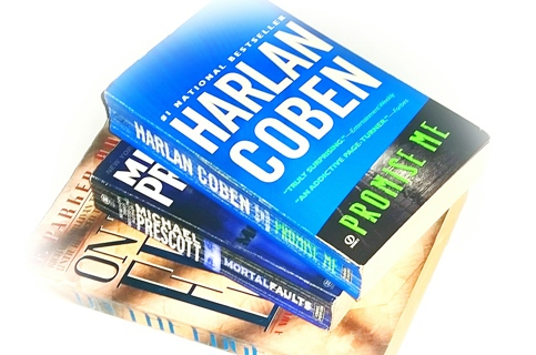 (3 Books!) Promise Me-Harlan Coben, On The Edge-Parker Hudson, Mortal Faults-Michael Prescott