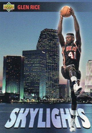 1993 Upper Deck Basketball Card Skylights Heat Glen Rice
