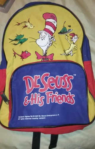 1997 Dr.Seuss & His Friends Back Pack Small Back to School