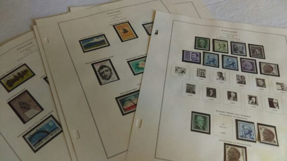10 pages of MNH USA Stamps