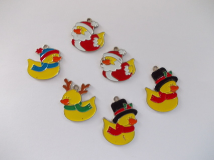 Christmas Holiday Ducky Charms Qty. 6
