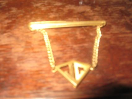 tie clip gold tone
