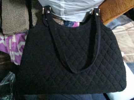 604d956f7f Free  Vera Bradley Black Microfiber Classic Purse - Handbags ...