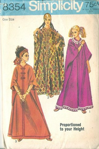 Free: Simplicity 5680 Retro 1960s Caftan Sewing Pattern - Sewing ...