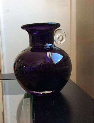 Free Gorgeous Designs Vintage Purple Glass Vase Antiques Listia
