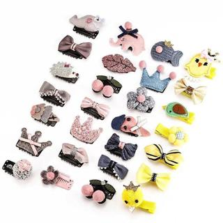 7 Types Hot Selling Children\'s Fresh Hair Clip Sets Baby Girls Cute Hair Accessories For Over 1 Y