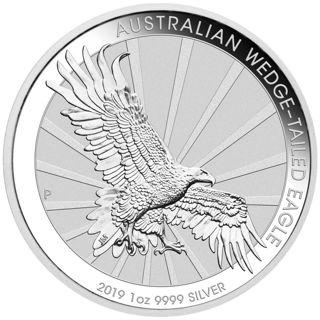 2019-P Australia 1 oz Silver Wedge-Tailed Eagle $1 Coin GEM BU Coin