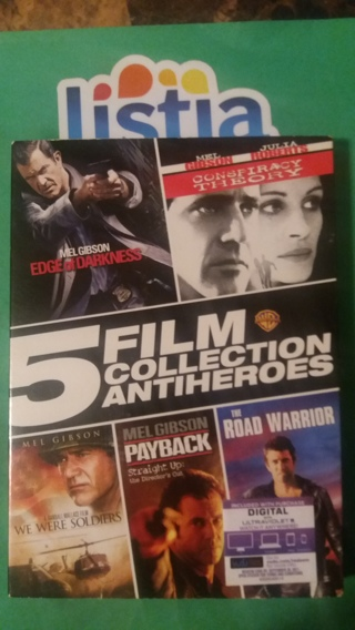 dvd  5 film collection antiheroes  mel gibson  free shipping