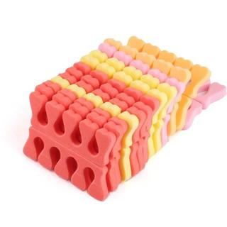 100Pcs Soft Foam Sponge Toe Separators Popular Finger Separator Dividers Nail Art Manicure Pedicur