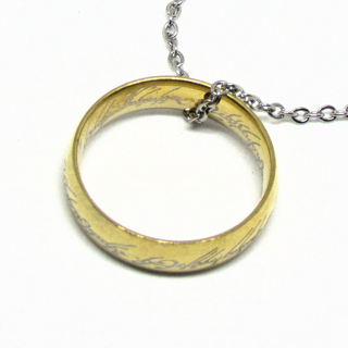"""Lord of the Rings One Ring Necklace 19"""" Chain"""