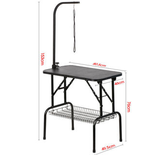 "New 32"" Adjustable Pet Dog Cat Grooming Table Waterproof Desk Top W/Arm&Noose"