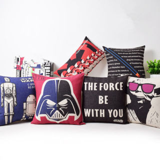 Star Wars Sith Laser Sword Yoda Cushion Cover The Force Be With You Pillow Case
