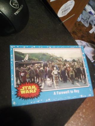 Star Wars Journey to the Last Jedi card