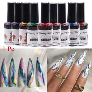 Watercolor Ink Nail Polish Blooming Gel Marble Smudge Lquid Gradient Manicure