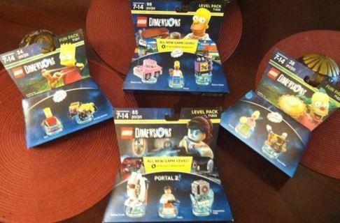 LEGOS The Simpsons Bart Homer Krusty + BONUS Portal 2 Video Game Legos FREE SHIPPING
