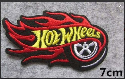 HOT WHEELS CARS LOGO IRON ON PATCH Applique Embroidered Badge Clothing Accessories FREE SHIPPING