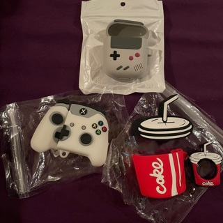 AirPod case lot (3) Coke Gameboy Game controller NEW