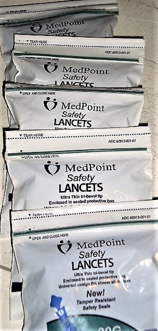MEDPOINT SAFTETY LANCETS 30G