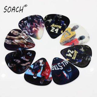 SOACH guitar strings guitar picks 10pcs 0.71mm Basketball stars two side earrings pick DIY design