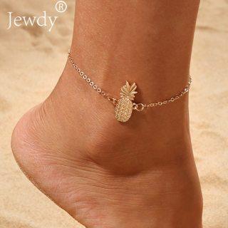Gold Pineapple Charm Anklet Bracelet for Women 2019 Ankle Sandals Barefoot Beach Foot Bridal Summer