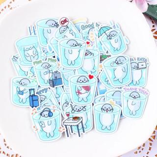 40pcs Creative kawaii Self-made cup seal Stickers/ Beautiful Stickers /Decorative Sticker /DIY Cra