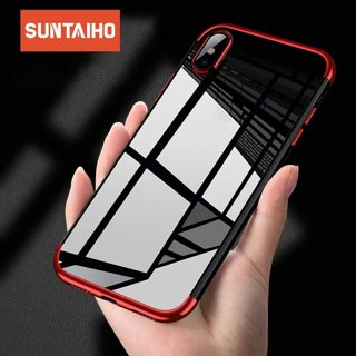 Suntaiho For iPhone Transparent Soft TPU Phone Case For iPhone XS Max XR 8 7 6 6S Plus case