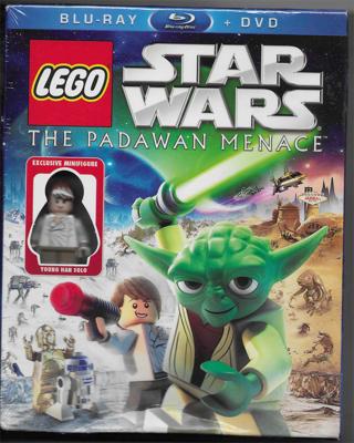 Lego Star Wars - The Padawan Menace - Blu-Ray + DVD Combo - New Sealed Unopened