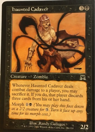 MTG/haunted Cadaver- Creature - Zombie- Illus. Randy Gallegos- 1993 - 2002