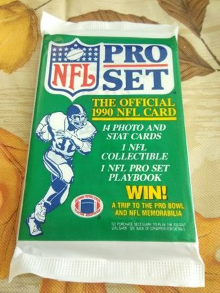 (LAST ONE) Sealed Pack - 1990 NFL Pro Set Football Trading Cards