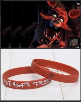 1 NEW Five Nights at Freddy's Wrist Band FOXY bracelet wristband Video Game JEWELRY GIN
