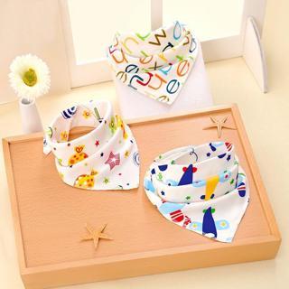 New Cute Baby bibs High quality triangle double layers cotton Cartoon Animal baby bandana bibs New