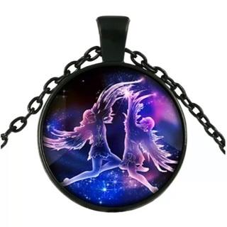 Gemini Zodiac Sign Pendent Necklace