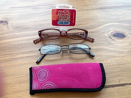 Brand New Pairs of Reading Glasses Plus Case